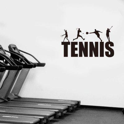 TENNIS Carved Fitness Exercise Inspirational Home Decoration Wandaufkleber