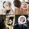 10X Magnifying 360 Degree Rotating Flexible Sucker Makeup Mirror with LED Light - NATURAL WHITE