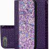 Shiny Sequined Leather Phone Case For Samsung Galaxy S9/S10/S10 Plus - VIOLET