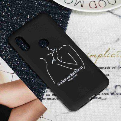TPU Custodia in Cellulare Nero Opaca Multi Pattern per Xiaomi Redmi Note 6/Note 6 PRO