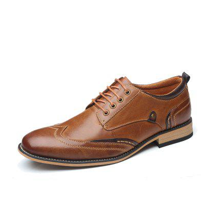 Men'S Business Dress Shoes Men'S British Lead Leather Cowhide Leather Men'S Shoe