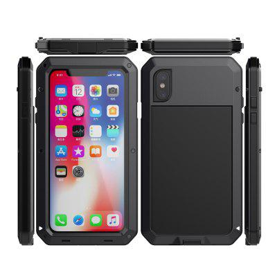 Metal Three-In-One Shatter-Resistant Waterproof Phone Case For iPhone Xs Max/XR/X