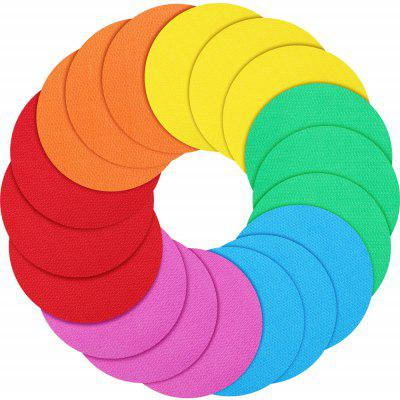 Colorful Circles Carpet Markers 4-inch 18 Pieces