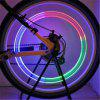 Bike Car LED Zawory kół Koła zaworów 7COLOR LED Flash Light Lampa Neon Night - SREBRO