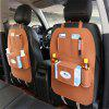 Car Seat Storage Bag Car Seat Cover Organizer Multifunction Vehicle Storage Bag - LIGHT BROWN