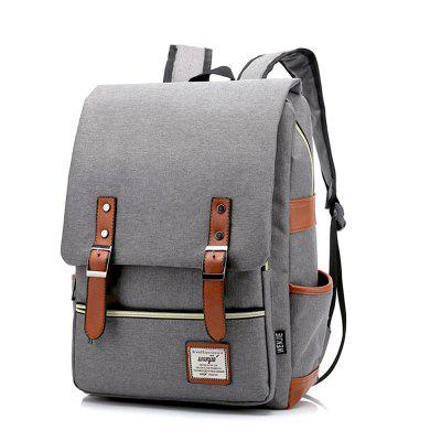 Canvas Laptop Usb Mochila Casual Shoulder Bag para homens