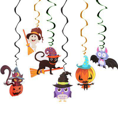 Halloween Spiral Décorations 6PCS