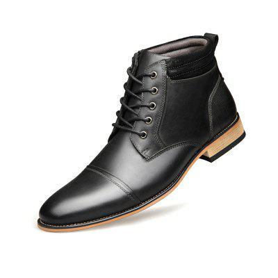 Herren High-Top Mode Business Leder Herrenschuhe
