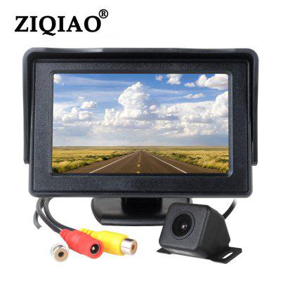 ZIQIAO 4,3-calowy monitor HD Car HD Waterproof za Widok z tyłu Camera Kit