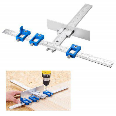 Woodworking Punch Locator Drill Guide Template Jig for Drilling Hole