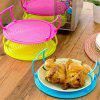 Bowls Rack Multi Functional Microwave Oven Heating Steaming Double Layer Tray - TEA GREEN