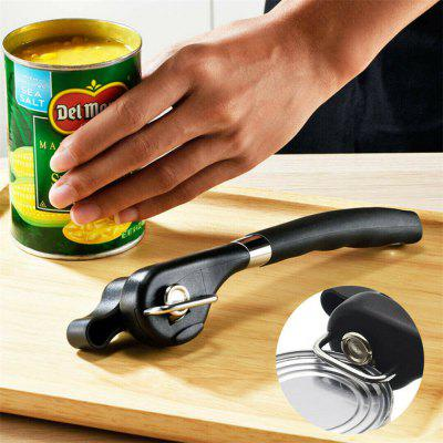 Manual Can Opener Tin Can Opener Safety Cut Lid Smooth Edge Side Stainless Steel