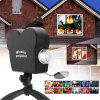 Mini Holiday Video Window Projector Lamp Halloween Christmas Light 12 Movies - BLACK