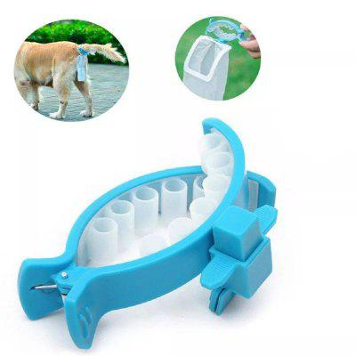 Portable Hands Free Pet Faeces Container with 20 Pieces Bags
