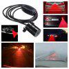 Car Red Laser Fog Rear Anti-Collision Safety Taillight Warning Signal Light Lamp - BLACK