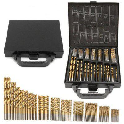 High Speed ​​Steel Titanium-plated Twist Drill Bit Iron Box Set 99pcs