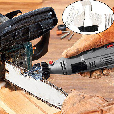 Rotary Sharpener Guide Drill Adapter Saw Sharpening Attachment Drilling Set