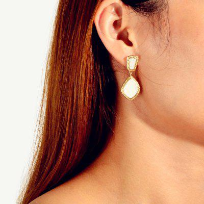 Fashion Gold Big Gem Drop Earrings 1Pair