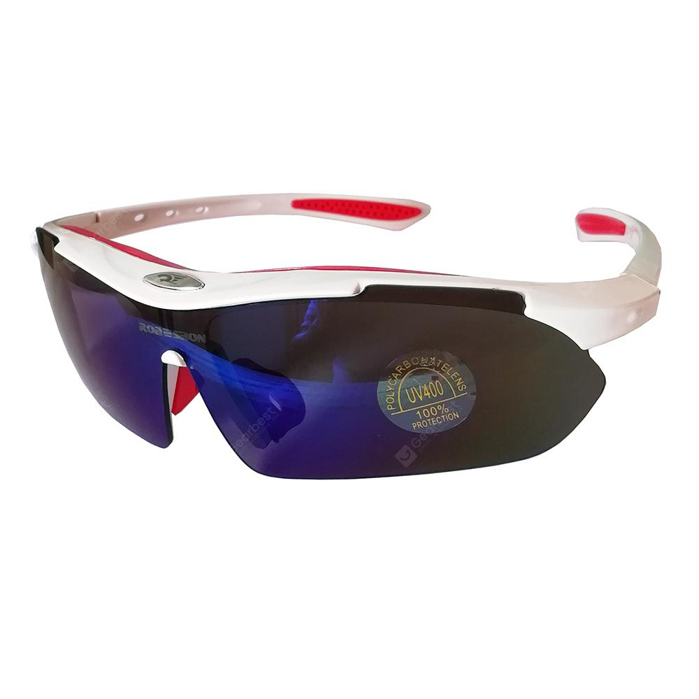 White Frame Goggles Riding Glasses Outdoor Sports Glasses Set