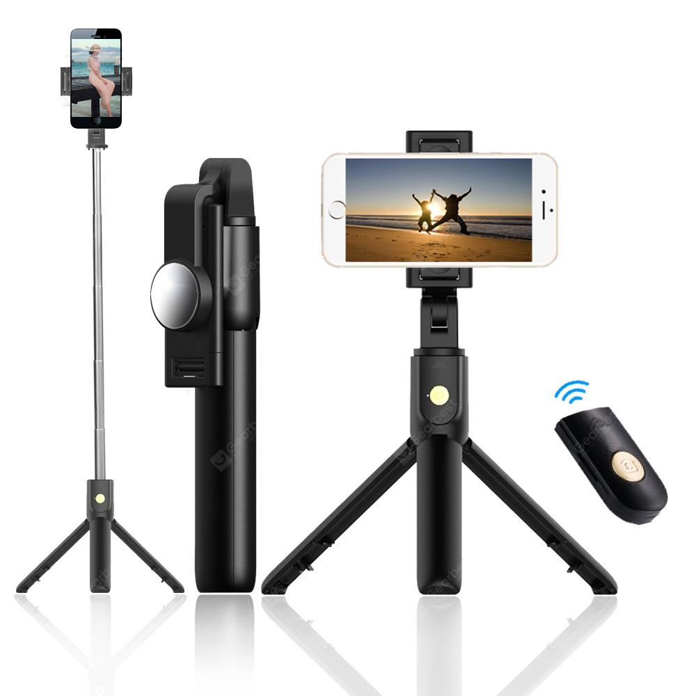 K10 Wireless Bluetooth Tripod Selfie With One Button Control Photo Selfie Stick