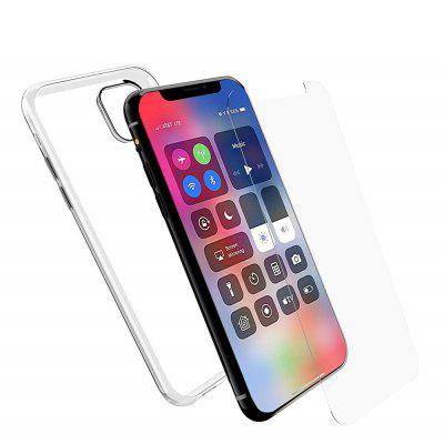 Colour Soft TPU Cover Case  + Tempered Glass Screen Protector for iPhone 11