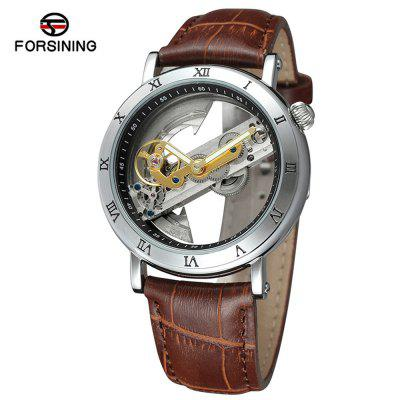FORSINING F9005 Belt Hollow Leisure Waterproof Automatic Mechanical Watch