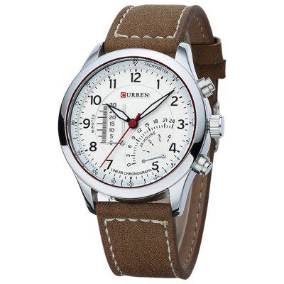 CURREN 8152 Moda męska osobowość Scrub Belt Outdoor Sports Watch