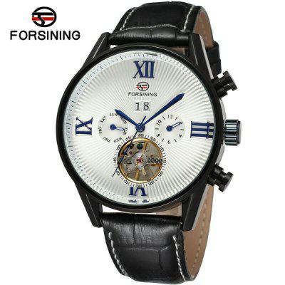Forsining A566 Men'S Fashion Casual Tourbillo
