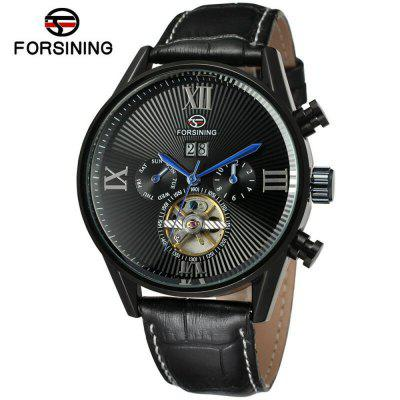 Forsining A566 Men'S Fashion Casual Tourbillon Automatic Mechanical Watch
