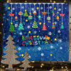 Christmas Pendant Gift Static Glass Background Decoration Removable Sticker - MULTI-A