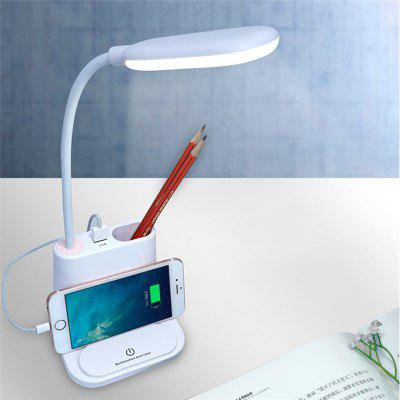 4-IN-1 USB Rechargeable LED Desk Lamp Touch Dimming Setting Table Lamp for Children Kids Reading Study Bedroom Living Room