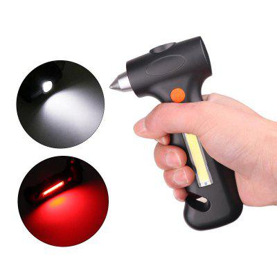 LED Charging Flashlight Safety Hammer