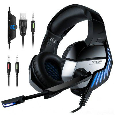 ONIKUMA K5 PRO LED Stereo Bass Surround Gaming Headset met microfoon voor PS4 / PC