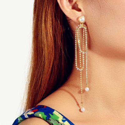 Fashionable Golden Irregular Forces Called Pendant Tassel Earrings