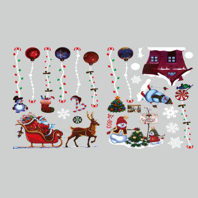 Christmas Hanging Ball Elk Christmas Tree Static Window Removable Stickers