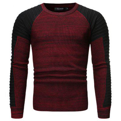 2019 Foreign Trade Men'S Fashion Round Neck Personality Color Matching Wild Set