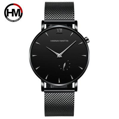 Stainless Steel Mesh Belt Waterproof Ultra Thin Twee Naald Semi quartz horloge