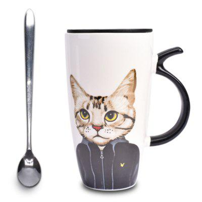Large Capacity 600 Ml Cat Ceramic Coffee Cup