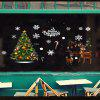 Elk Christmas Tree Static Window Background Decoration Removable Sticker - MULTI-A