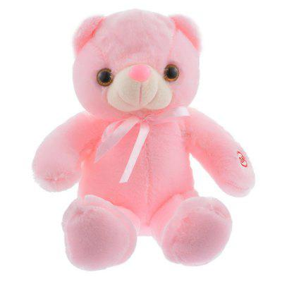 LED Bear Stuffed Animals Plush Toy Pillow Colorful Glowing Bear Doll Plush Toy