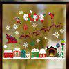 Christmas Elk Sled House Snowflakes Static Sticker Decorative Removable Sticker - MULTI-A
