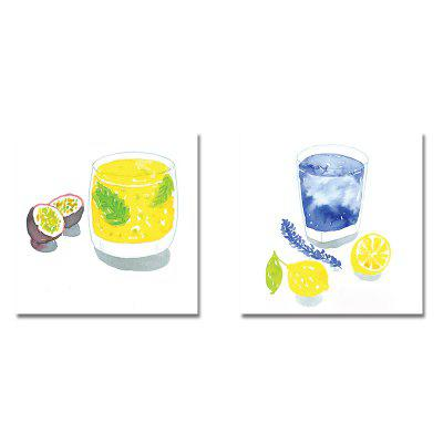 Cartoon Fresh Lemon Print Art 2PCS