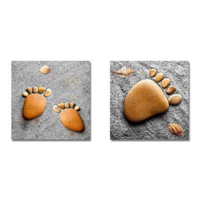 Lovely Piatra Footprints Print Art 2PCS