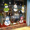 Christmas Snowman Happy Glass Doors and Windows Removable Wall Stickers - MULTI-A