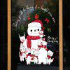 Christmas Animal World Snowman Door and Window Background Removable Wall Sticker - MULTI-A