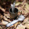 Nextool Outdoor Titanium Fork Spoon Cutlery Set from Xiaomi youpin - CARBON GRAY