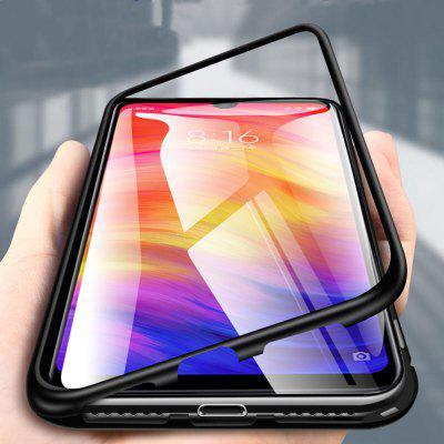 Magnetic Metal Tempered Glass Flip Case for Xiaomi Redmi Note 8