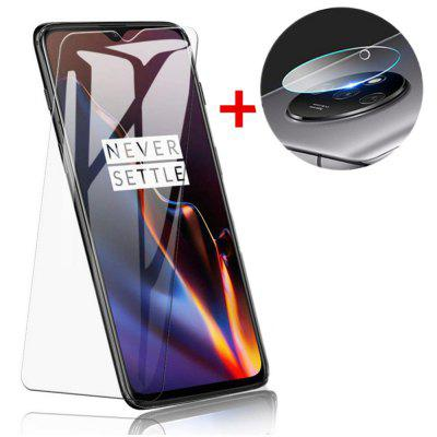 Glass Screen Protector + Lens Protective Film voor OnePlus 7T