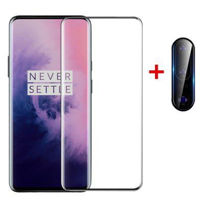 Glass Screen Protector + Lens Protective Film voor OnePlus 7T Pro