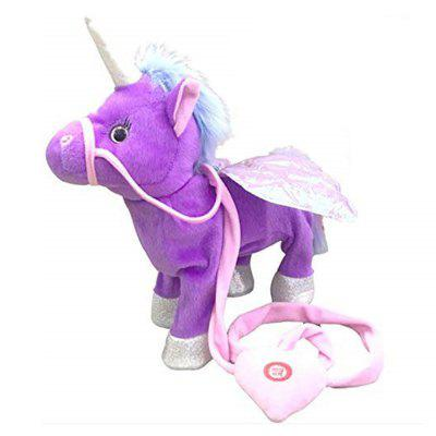 Leuke Electronic Walking Unicorn Toy Doll Sing Song
